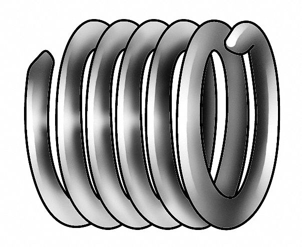 Helical Insert,  Free Running Helical,  304 Stainless Steel,  M20 x 2.5 Internal Thread Size