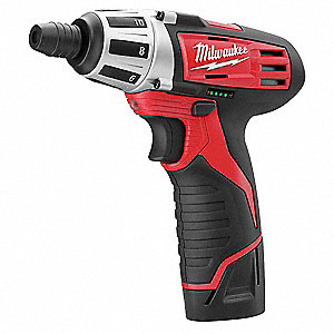 milwaukee 1 4 cordless screwdriver kit 12 0 voltage battery