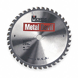 "7-1/4"" Carbide Metal Cutting Circular Saw Blade, Number of Teeth: 40"