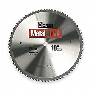 "10"" Carbide Metal Cutting Circular Saw Blade, Number of Teeth: 52"