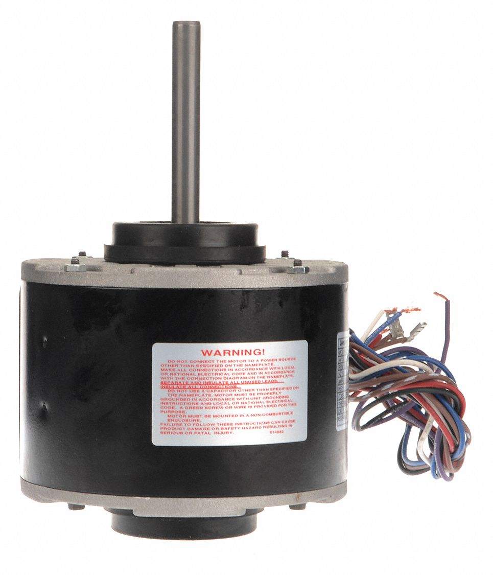 CENTURY 1/6 HP Direct Drive Blower Motor, Permanent Split Capacitor on dc wiring, 230 volt wiring, ac wiring, 24v wiring, inverter wiring, 277v wiring,