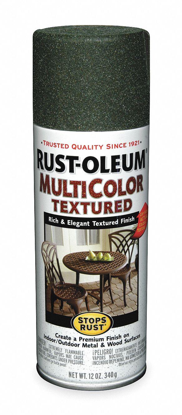RUST OLEUM Stops Rust Textured Spray Paint in Textured Deep Forest