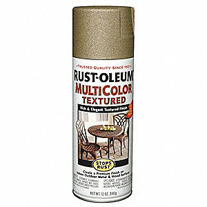 Stops Rust® Textured Spray Paint in Textured Radiant Brass for Concrete, Masonry, Metal, Wood, 12 oz