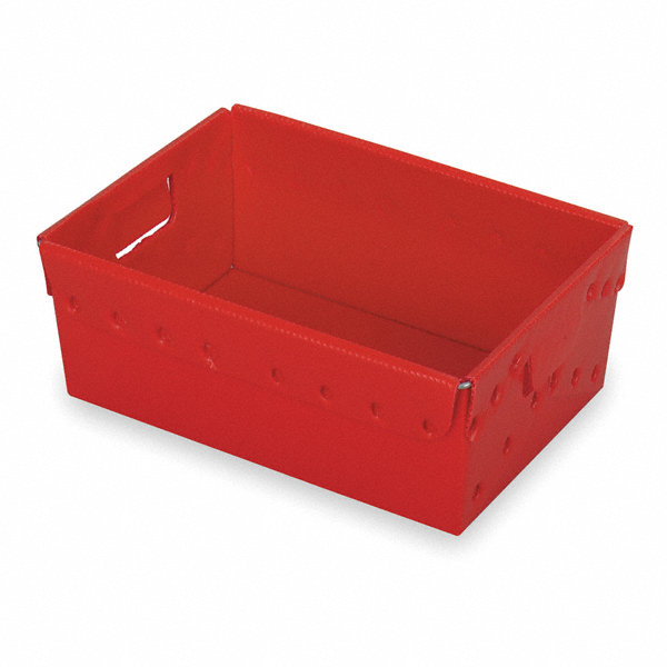 container red 12 h x 18 l x 13 w 3pk 2ceu7 39814 gr