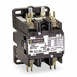 24VAC Definite Purpose Contactor; No. of Poles 2, 50 Full Load Amps-Inductive