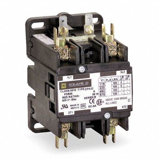 24V AC Definite Purpose Contactor; No. of Poles 2, 50 Full Load Amps-Inductive