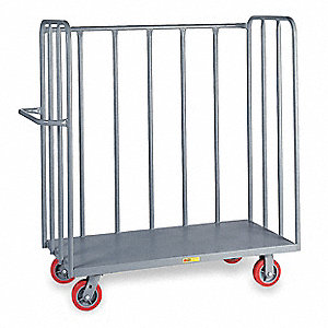 Tubular Steel Bulk Stock Cart, 3600 lb. Load Capacity, (2) Swivel, (2) Rigid Caster Type