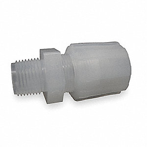 "Male Straight Adapter, 3/4"" Tube Size, 3/4"" Pipe Size - Pipe Fitting, Plastic"