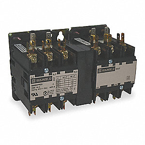 Reversing Action Hoist Contactor, Number of Poles: 3, 120VAC Coil Volts, 1 HP @ 1 Phase - 120V