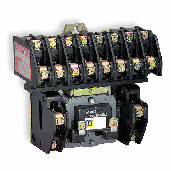SQUARE D Lighting Magnetic Contactor, 120VAC Coil Volts