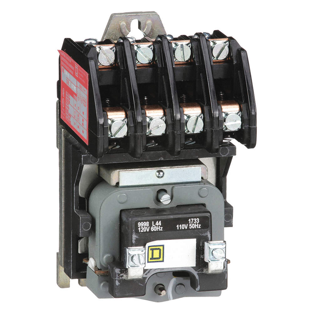 Lighting Magnetic Contactor, 120VAC Coil Volts, Contactor Type: Electrically on