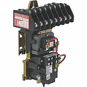 Lighting Magnetic Contactor, 277VAC Coil Volts, Contactor Type: Mechanically Held, Number of Poles: