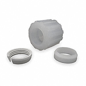 Nut Assembly,PFA, PTFE, ETFE,Comp,1/2In