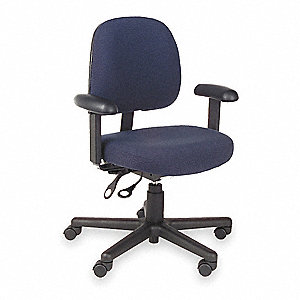 Task Chair,Blue,Fabric,Adjust Arms
