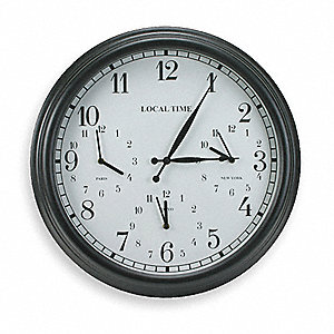 "23-1/4"" Round Arabic Analog Clock Metal Frame"