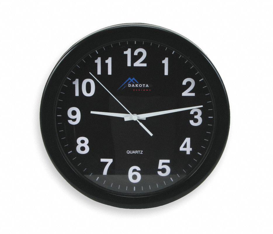 Analog Clock,10-1/4 In,Black