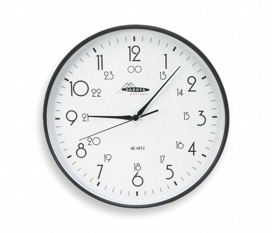 Analog Clock,12 In, Black