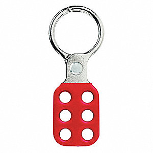 "4-7/8"" Aluminum/Spark-Resistant Snap-On Lockout Hasp, Red"