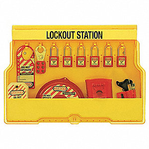 "Lockout Station, Filled, Valve Lockout, 15-1/2"" x 22"""