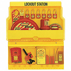 "Lockout Station, Filled, Electrical/Valve Lockout, 26-1/2"" x 22"""