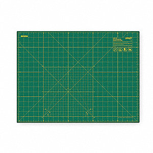 "18"" x 24"" Double Sided, Self Healing Rotary Cutting Mat, One Side Green with Yellow Lines, Other Sid"