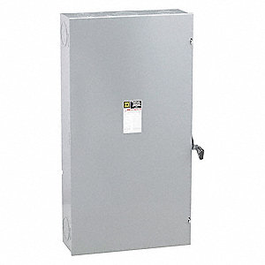 Safety Switch, 1 NEMA Enclosure Type, 400 Amps AC, 125 HP @ 240VAC HP