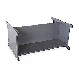 Flat File Cabinet,Open Base,Gray