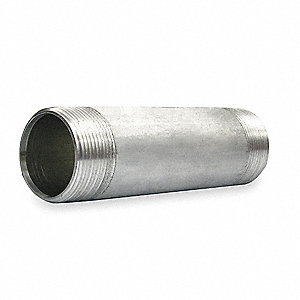 Rigid Conduit Nipple,1 1/2 In x 6,Al