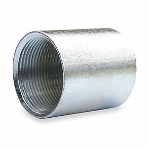 "1-1/2"" Rigid Threaded Coupling, 2"" Overall Length"