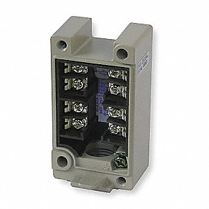 "Limit Switch Receptacle, Zinc Die Cast, DPDT Contact Form, 1/2""-14 NPT Conduit Size"