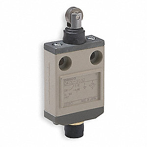 Plunger, Roller General Purpose Limit Switch; Location: Top, Contact Form: SPDT, Top Movement