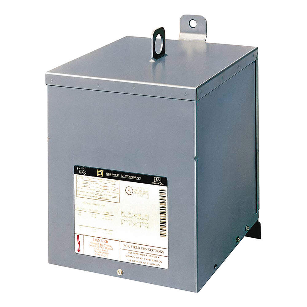 SQUARE D Single Phase Transformer, 120VAC, 240VAC Output, 480VAC ...