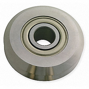 V-Guide Wheel Bearing,Bore 0.5906 In