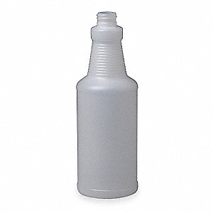 Clear Plastic Bottle, 32 oz., 1 EA