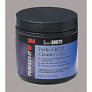 1 pt. Plastic Jar Abrasive Cleaner Clay Bar, Blue
