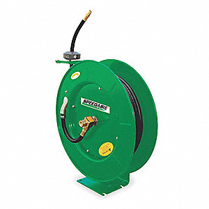 "3/8"", 100 ft. Spring Return Hose Reel, 300 psi Max. Pressure"