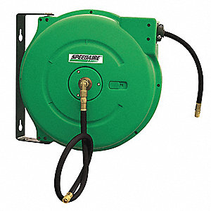 "Hose Reel,1/2"" ID,40 ft,Spring,HD"