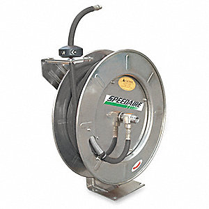 "Hose Reel,1/2"" ID,50 ft,HD,Steel"