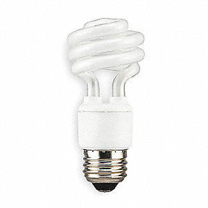 11.0 Watts  Screw-In CFL, T2, Medium Screw (E26), 660 Lumens 2700K Bulb Color Temp.