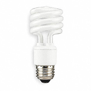 13.0 Watts  Screw-In CFL, T2, Medium Screw (E26), 800 Lumens 6500K Bulb Color Temp.