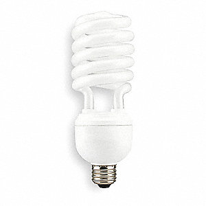 40 Watts  Screw-In CFL, T4, Medium Screw (E26), 2400 Lumens 4100K Bulb Color Temp.