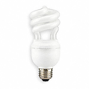 15.0 Watts Screw-In CFL, Spiral, Medium Screw (E26), 900 Lumens, 2700K Bulb Color Temp.