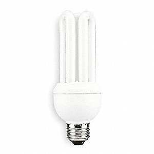 20 Watts Screw-In CFL, T4, Medium Screw (E26), 1200 Lumens, 2700K Bulb Color Temp.