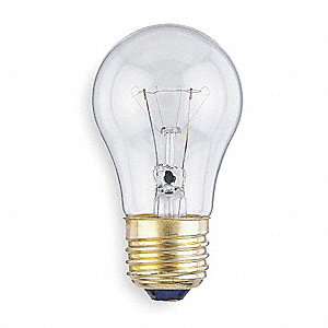 40 Watts Incandescent Lamp, A15, Medium Screw (E26), 350 Lumens, 2800K Bulb Color Temp., 12 PK