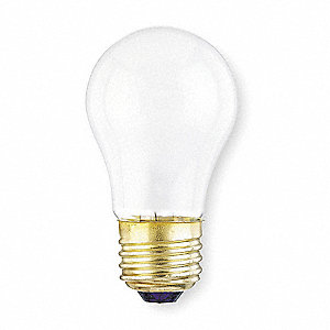 40 Watts Incandescent Lamp, A15, Medium Screw (E26), 340 Lumens, 2800K Bulb Color Temp.