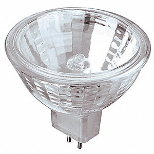 50 Watts Halogen Lamp, MR16, 2-Pin (GU5.3), 3000K Bulb Color Temp.