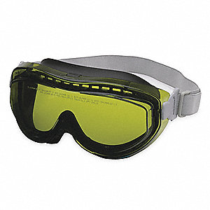 OTG Anti-Fog, Scratch-Resistant Laser Safety Goggles with Green/Light Yellow/Green Lenses