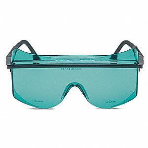 OTG Scratch-Resistant Laser Safety Glasses with Light Blue/Aqua Lenses