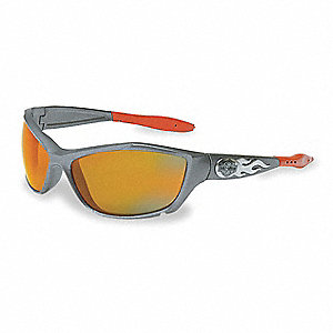 HD1000 Anti-Fog, Scratch-Resistant Safety Glasses, Orange Mirror Lens Color