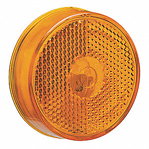 Marker Lamp,Reflector,2-1/2 In,Yellow